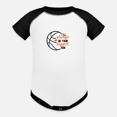 Biggest Fan Basketball biggest fan - Baseball Baby Bodysuit
