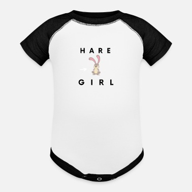 Ocean Animals Hare Girl Funny Cute Simple - Baseball Baby Bodysuit