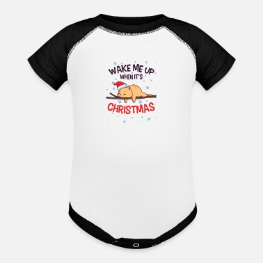 Best Nana Eve Lazy Cat Santa Domestic Animal Kitten Owner - Baseball Baby Bodysuit