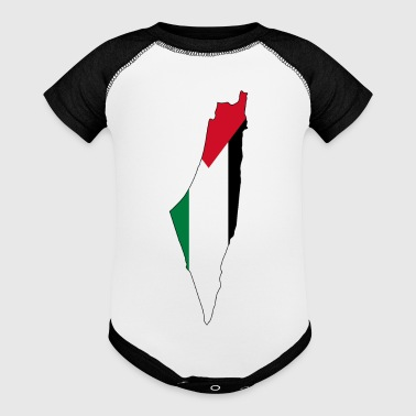 Flag map of Palestine Palestinian - Baby Contrast One Piece