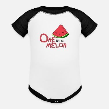 Melon ONE in a MELON 7 - Baseball Baby Bodysuit