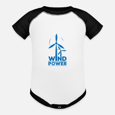 Demo Wind power environmental protection gift environme - Baseball Baby Bodysuit