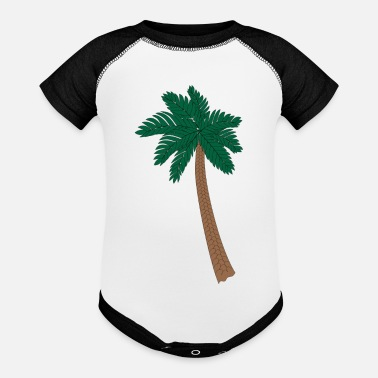 Palm Trees Palm Tree - Baseball Baby Bodysuit