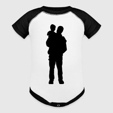 Father and Son - Baby Contrast One Piece