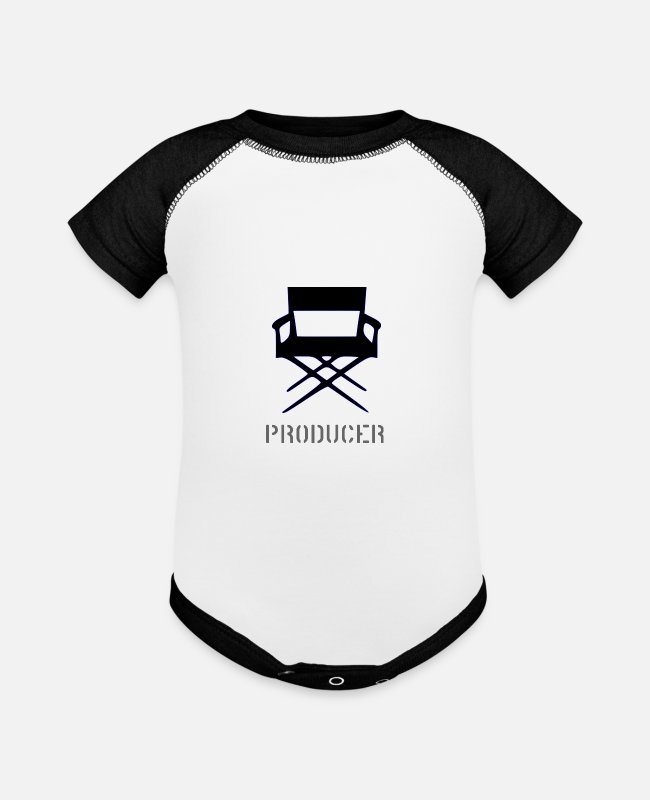 Director Baby One Pieces - I'm the producer. - Baseball Baby Bodysuit white/black