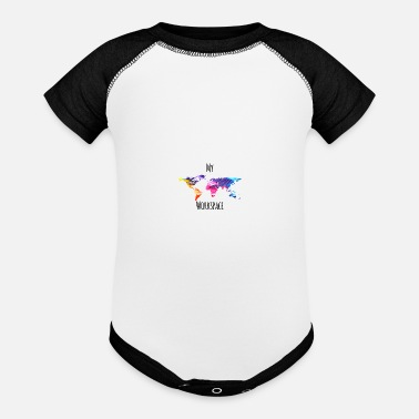 Workspace My workspace digital nomads colorful - Baseball Baby Bodysuit