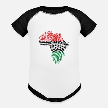 Africa DNA Africa MAP - Pan Africa - Baseball Baby Bodysuit