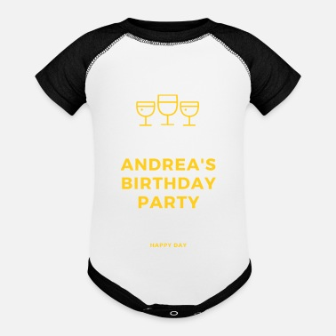 Birth Name Birth name , andrea , birthday - Baseball Baby Bodysuit