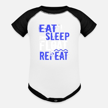 Float Tank Float Therapy Eat Sleep Float Repeat - Baseball Baby Bodysuit