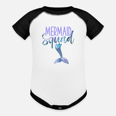 Mermaid Squad Cute Funny Birthday Bridal - Baseball Baby Bodysuit