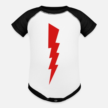 Relâmpago Bolt - Lightning - Shock - Electric - Baseball Baby Bodysuit
