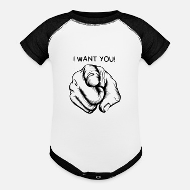 I want you - Baseball Baby Bodysuit
