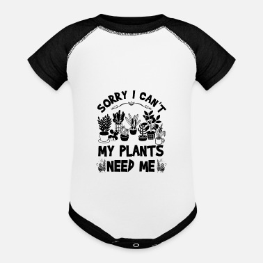 Quotes Sorry I Can't My Plants Need Me - Baseball Baby Bodysuit
