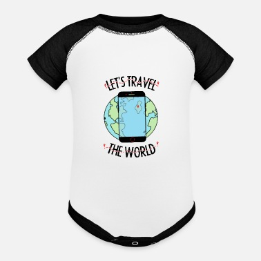 Traveling Let's travel the world - Baseball Baby Bodysuit