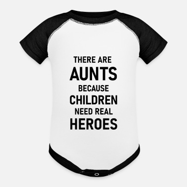 Aunt is a real hero - Baseball Baby Bodysuit
