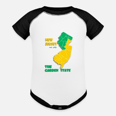 New German States New Jersey The Garden State - Baseball Baby Bodysuit