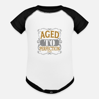 Heart Aged to perfection - Baseball Baby Bodysuit