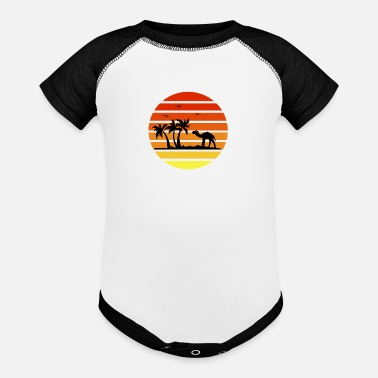 palms trees and camels - Baseball Baby Bodysuit