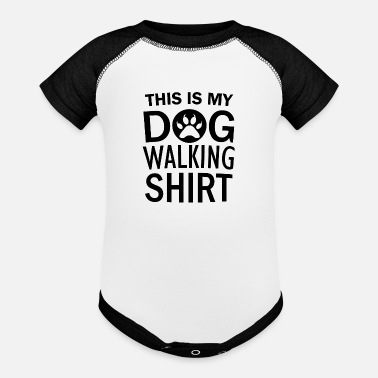 Dog-walking Dog Walking - Baseball Baby Bodysuit