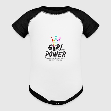 Girl Power - Baby Contrast One Piece