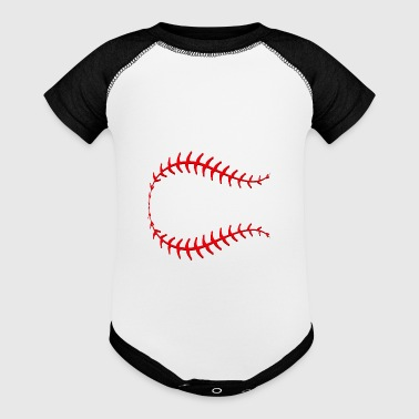 Baseball Stitches - Baby Contrast One Piece