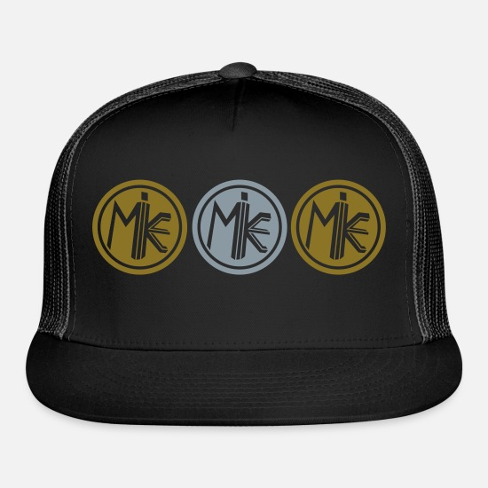 Vision Caps - M.I.K.E. (SHINY GOLD & SHINY SILVER Hat) - Trucker Cap black/black