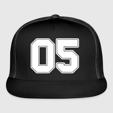 05 Number five College Style - Trucker Cap