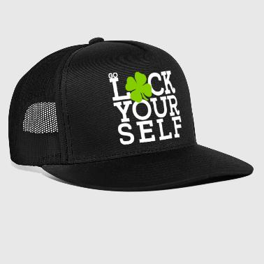 go luck yourself - St Patrick's day Irish shamrock - Trucker Cap