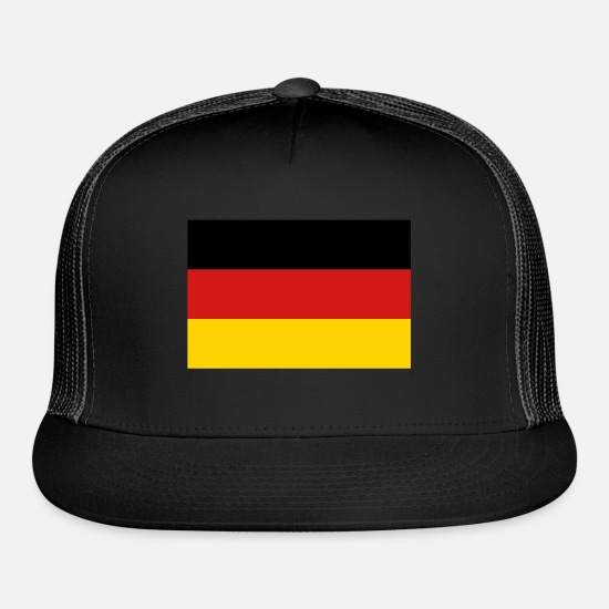 Hamburg Caps - German Flag - Trucker Cap black/black