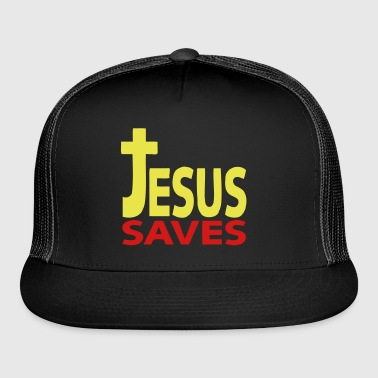 Jesus saves 1 - Trucker Cap