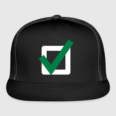 Check Mark ok sign Icon - Trucker Cap