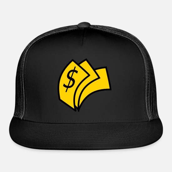 Cabbage Caps - Money - Trucker Cap black/black