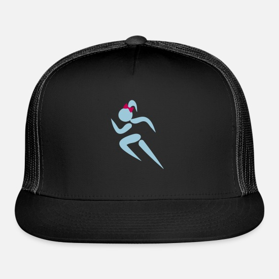 Fencing Caps - ❤✦Sexy Female Sprinter Wearing a Pony tail✦❤ - Trucker Cap black/black