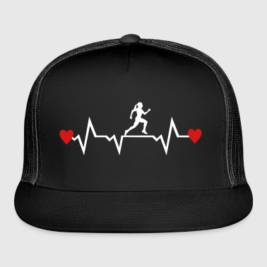 Running Woman & Heartbeat & Hearts - Trucker Cap