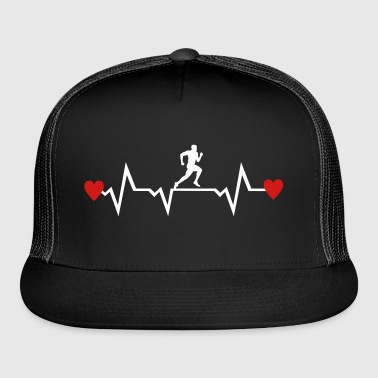 Running Man & Heartbeat & Hearts - Trucker Cap