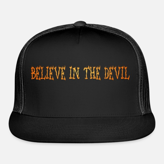 Devil Caps - The Devil - Trucker Cap black/black