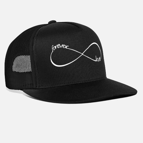 9e77c26f28d Front. Design. Front. Design. Front. Design. Design. Front. Best Caps -  forever love Infinity infinite endless symbol - Trucker Cap black black