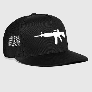 Rifle AR-15 Rifle Silhouette - Trucker Cap