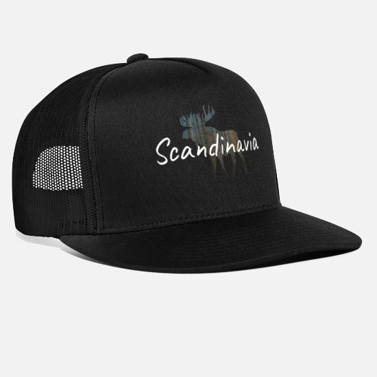 Scandinavia Caps - moose scandinavia - Trucker Cap black/black
