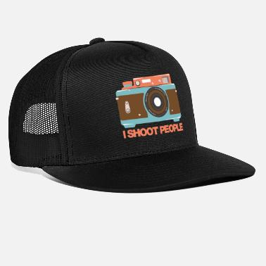 Photographer Photographer Camera Gift I shoot people funny - Trucker Cap