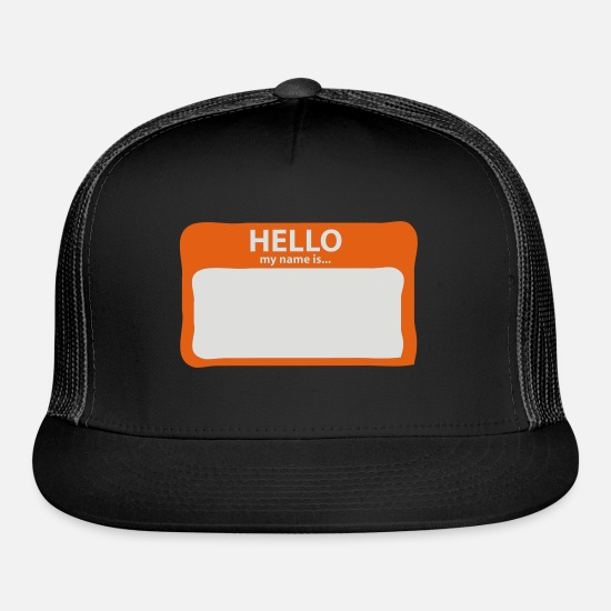 Hello My Name Is Caps - Hello My Name is... - Trucker Cap black/black