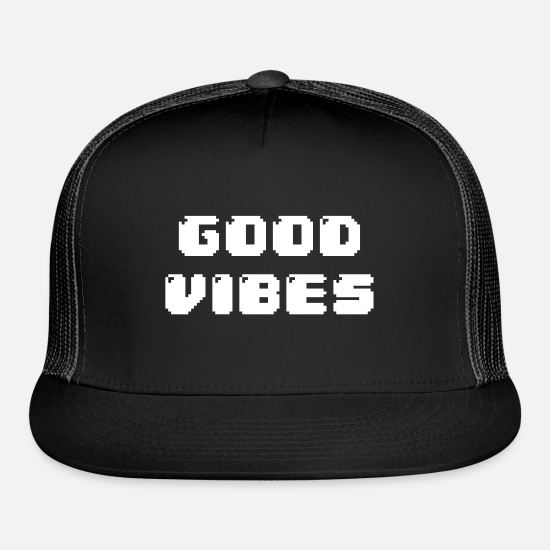 aaa7dad93 GOOD VIBES Trucker Cap - black/black