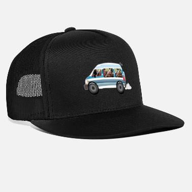 Van Dodge Ram Van Sherry With Cactus Scenery & Mouse - Trucker Cap