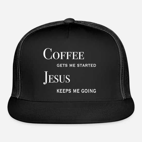 Jesus Caps - Coffee & Jesus - Trucker Cap black/black