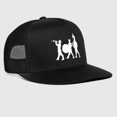 Marching Band Silhouette of A Marching Band White - Trucker Cap