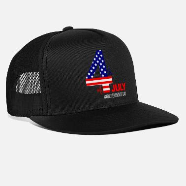 July 4th 4th of July - Trucker Cap