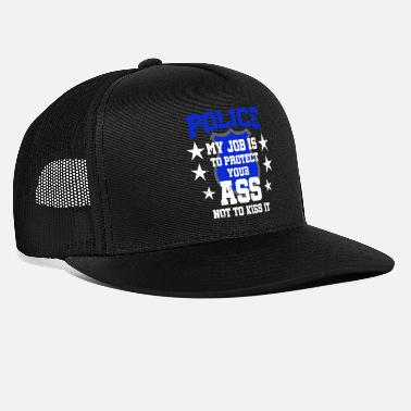 Cop Police Policeman Policewoman Handcuffed Occupation - Trucker Cap