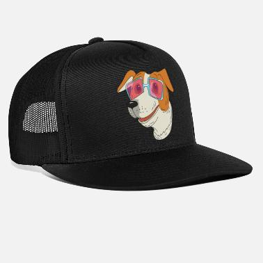 Bow Wow Cute dog with pink glasses - Trucker Cap