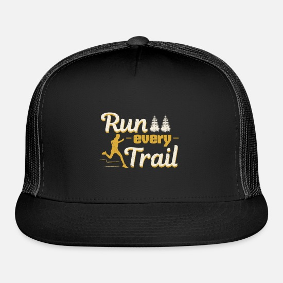Running Caps - Run every Trail - Trucker Cap black/black