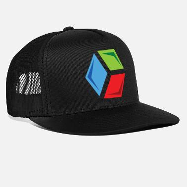 Color Tri-Color Cube - Trucker Cap